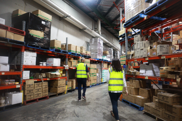 FoodLink took FoodByUs on a tour of their warehouse