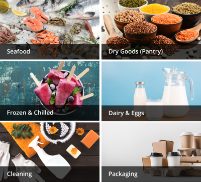 Buy seafood, dry pantry goods, frozen and chilled products, dairy, cleaning and packaging products from FoodLink on FoodByUs